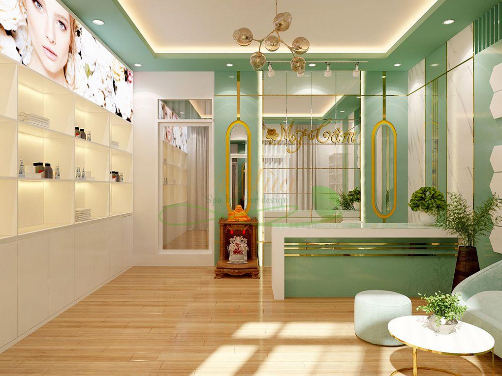 Thiết kế tủ mỹ phẩm cho spa đẹp