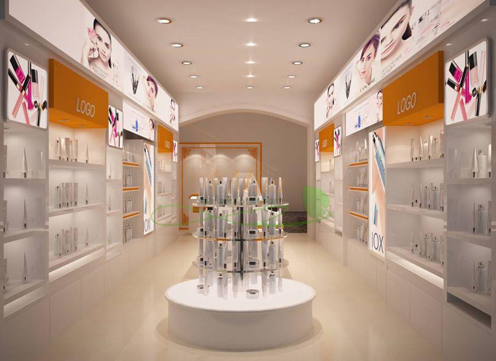 Hệ tủ trưng bày mỹ phẩm