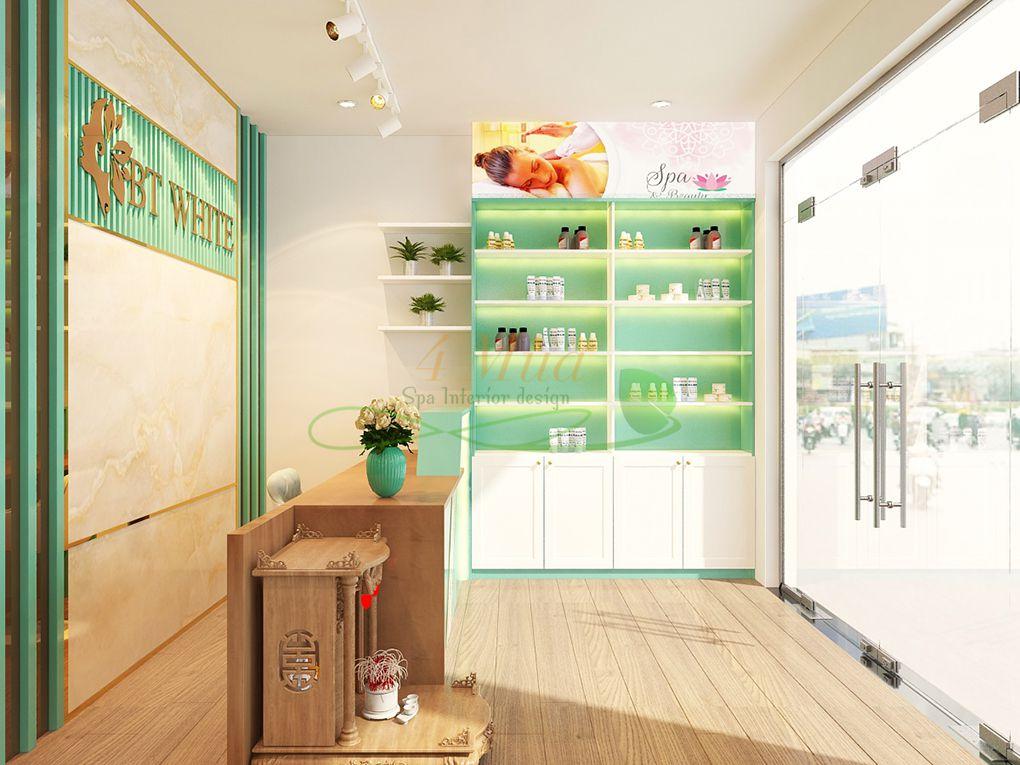 Tủ mỹ phẩm làm bằng gỗ đẹp